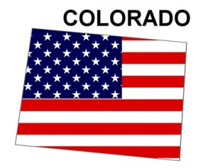 USA State Map Colorado